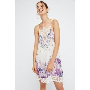 Free People Who's Sorry Now Printed Slip Dress M